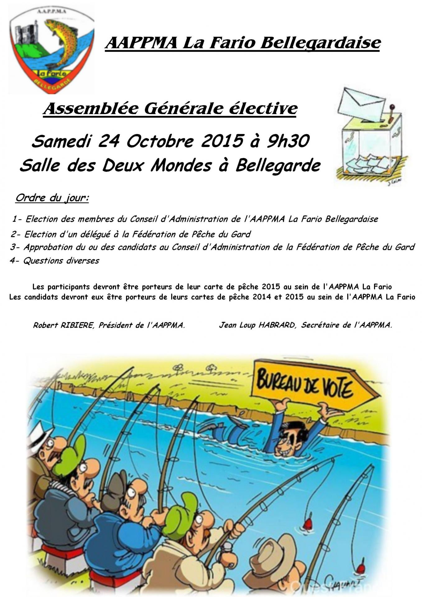 Affiche elections aappma bellegarde