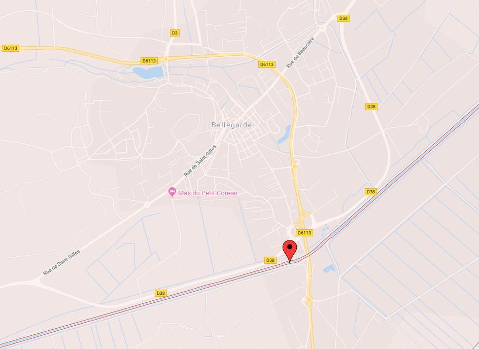 Carte canal du rhone a sete